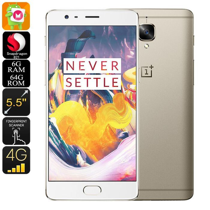 OnePlus 3T Android Smartphone Quad Core CPU 6GB RAM Android 6.0 16MP Camera 5.5: Bid: 589,90€ Buynow Price 589,90€ Remaining 09 dias 18 hrs