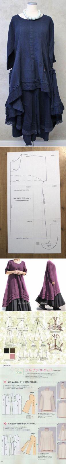 Dress  Бохо для пышечек.много схем,моделей и выкроек