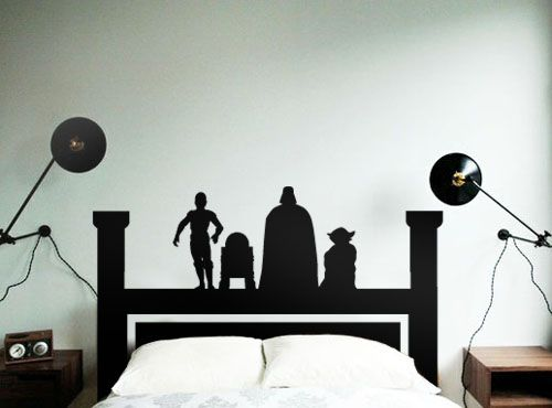 Star Wars Headboard Decal is one of the best boy gift ideas I've seen, and someone's birthday is coming up! ;)  thank goodness for Trading Phrases!   www.tradingphrases.com