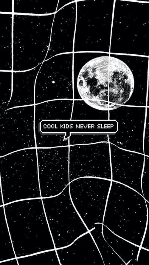 Cool kids never sleep moon grid
