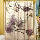 Found it at Wayfair - Rosette Bird Shower Curtain
