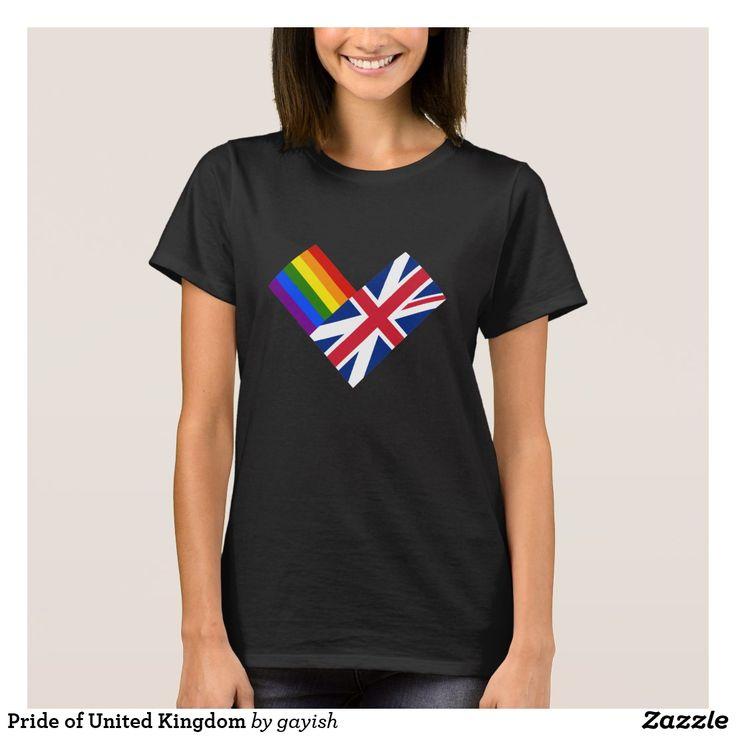 Pride of United Kingdom t-shirt.  #gaypride #gayrights #tshits #prideshirt #pride #flags #heart #uk #unitedkingdom #england #gayuk