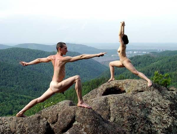 Raw nude yoga