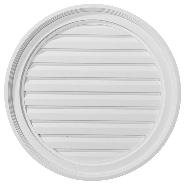 Ekena Millwork GVRO22D 22-Inch W x 22-Inch H x 1 5/8-Inch P Round Gable Vent Louver, Decorative *** You can find out more details at the link of the image.