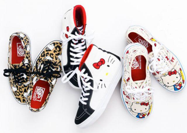 #Vans & Hello Kitty | Fashion Insider Magazin - Supersüsse Kinderschuhkollektion #HelloKitty #Fashion #Kids #Kindermode