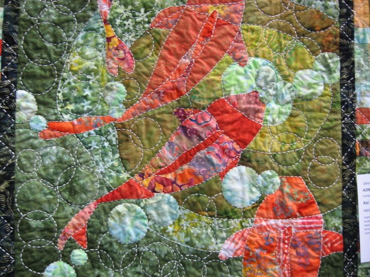 74 best images about koi pond quilt on pinterest for Koi pond quilt pattern