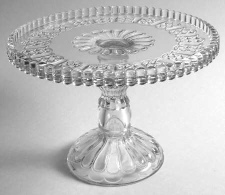 EAPG  Cottage  pattern Cake Stand made by U.S. Glass circa ...  sc 1 st  Pinterest : clear plastic cake plates - pezcame.com