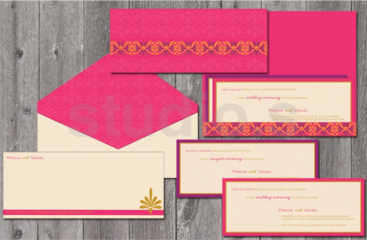 Wedding Invitation Pink And Purple Floral