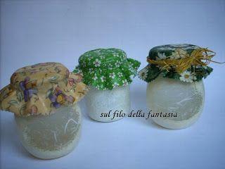 Sul filo della fantasia: Riciclare contenitori di vetro