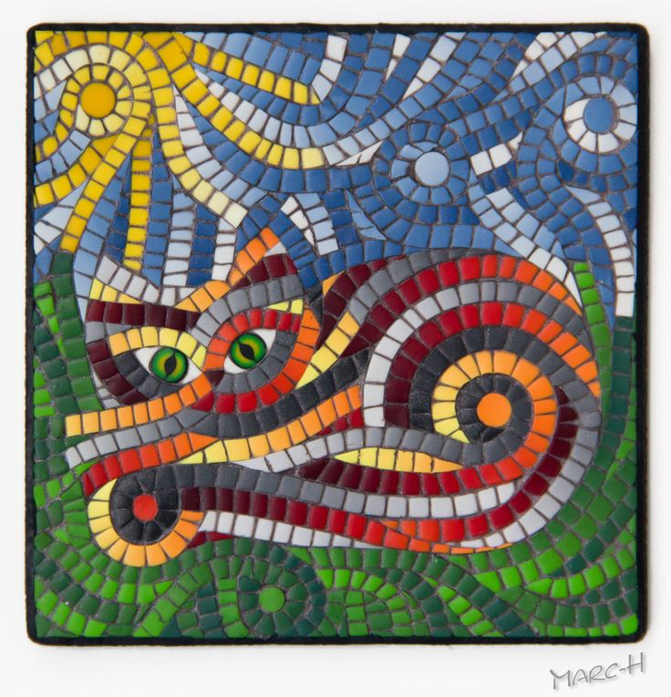 FIMO 50 World project tile from Marcela Havelková, Czech Republic