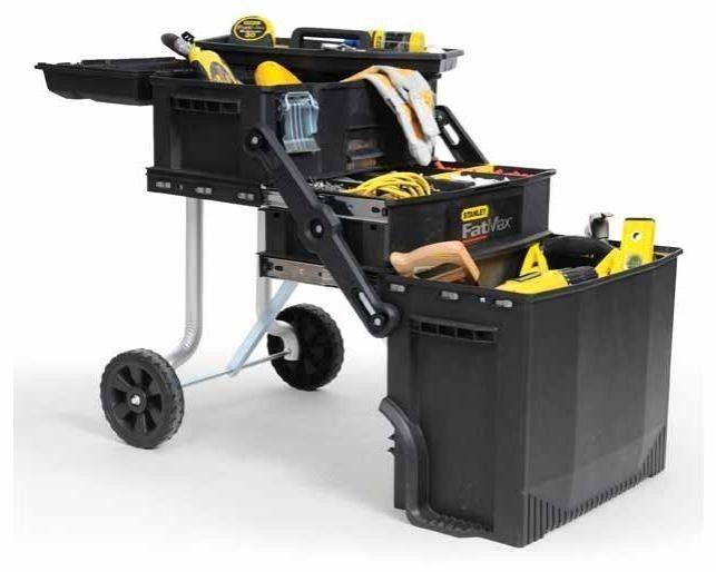 Rolling Tool Box Storage Cabinet Chest Portable Garage Organizer Workstation  #Stanley