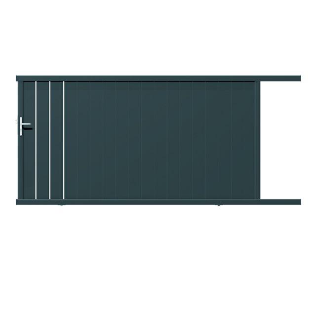 17 b sta id er om portail en aluminium p pinterest cloture en aluminium p - Portail coulissant castorama aluminium ...