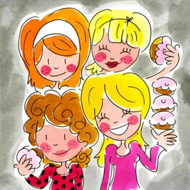 (Meiden met cupcakes) - Blond Amsterdam