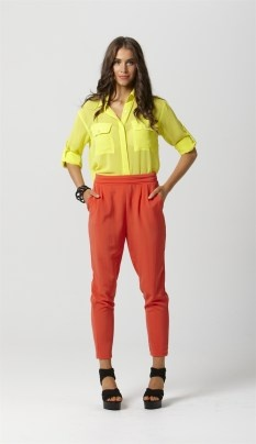 Fate san paulo yellow pocket shirt blouse $89.95 | threadsandstyle.com.au