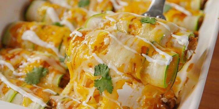 The bold truth: You won't even miss tortillas. Zucchini enchiladas
