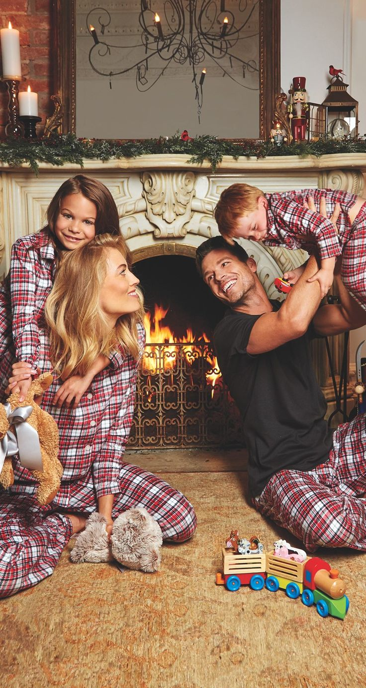 Family time in Fleece Pajamas | KN Karen Neuburger Fleece Pajama Sets