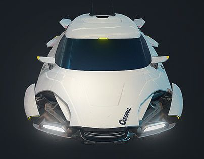 """Check out new work on my @Behance portfolio: """"Hovercar: Cardinal"""" http://be.net/gallery/46992947/Hovercar-Cardinal"""