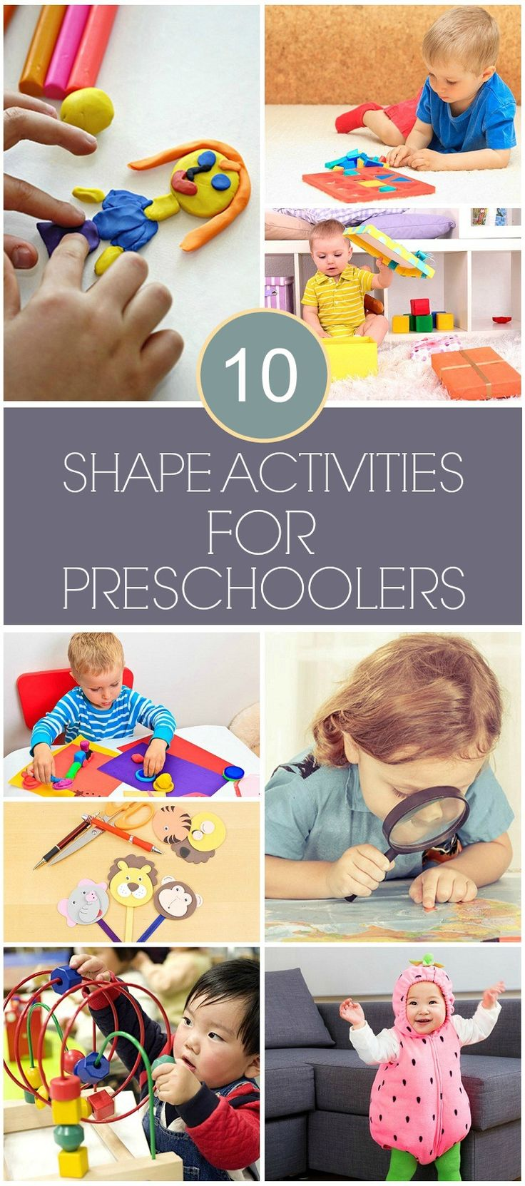 Top 10 Shape Activities For Preschoolers: The ability to identify different shapes is an extremely important visual discrimination skill. Knowing the name of each shape also allows children to then correctly understand descriptions of objects based on shapes.