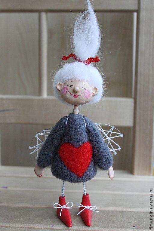 Купить Домовая феечка Зося - ангелочек, феечка, сувениры и подарки, оригинальный подарок, сердечко, человечек