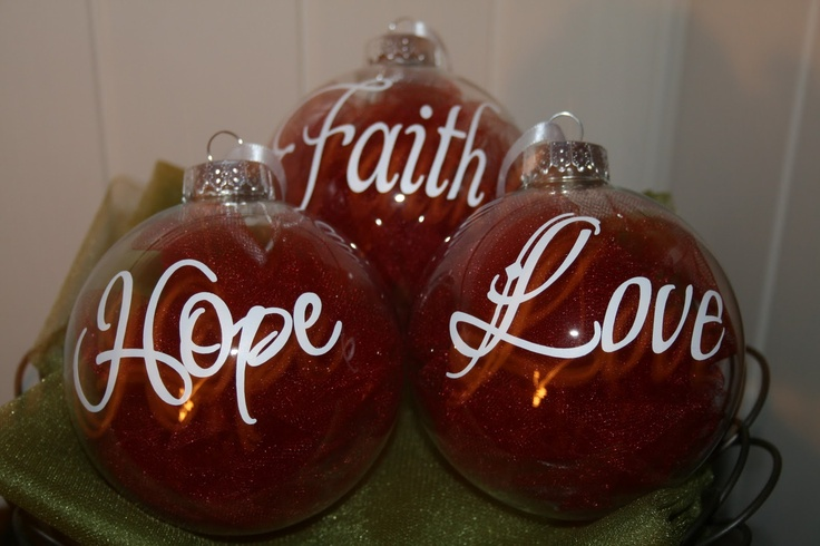 Custom Christmas Ornaments with vinyl lettering. love making crafts i have all my stuff ready cant wait to make my Wheath