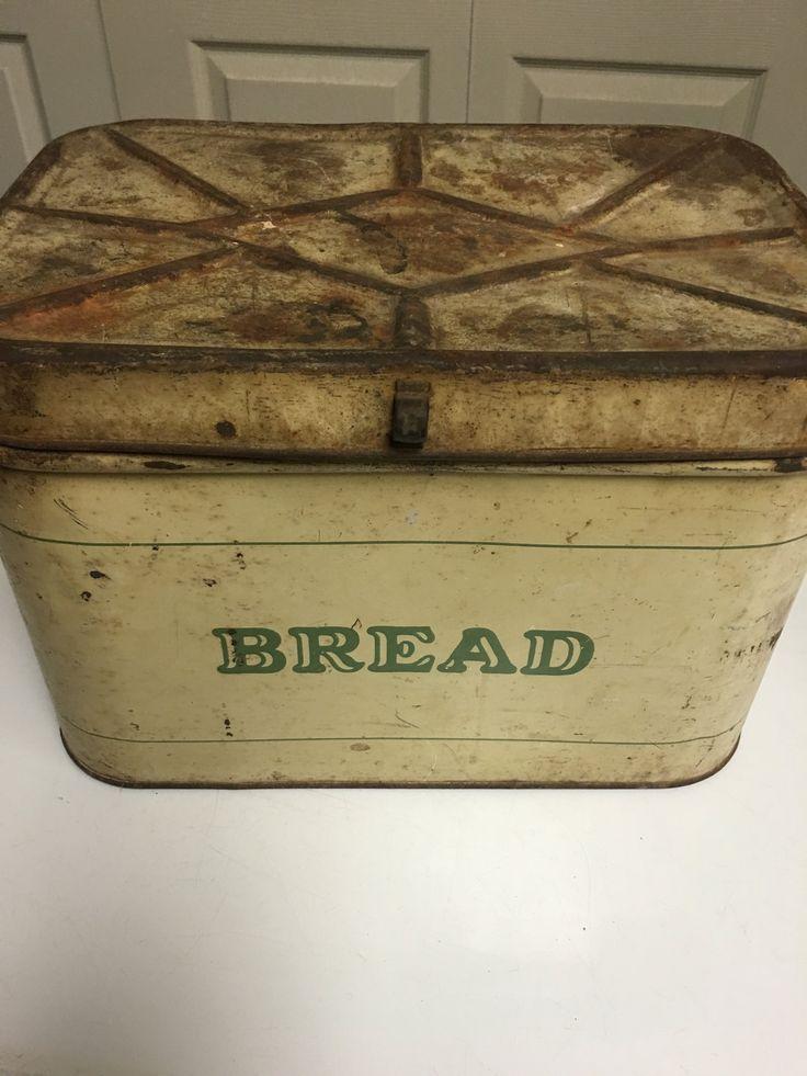 Vintage Bread Tin, Bread Box, Midcentury, Farmhouse Decor by MaggieBleus on Etsy