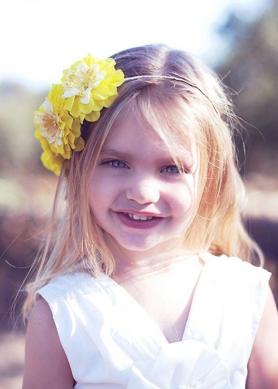 Flower Girl Headband - so cute!