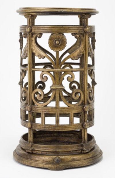 Christopher Dresser, Cast iron stickstand, English circa 1880.
