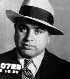 FBI mug shot of gangster Al Capone