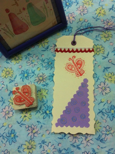 Marca páginas con sellos