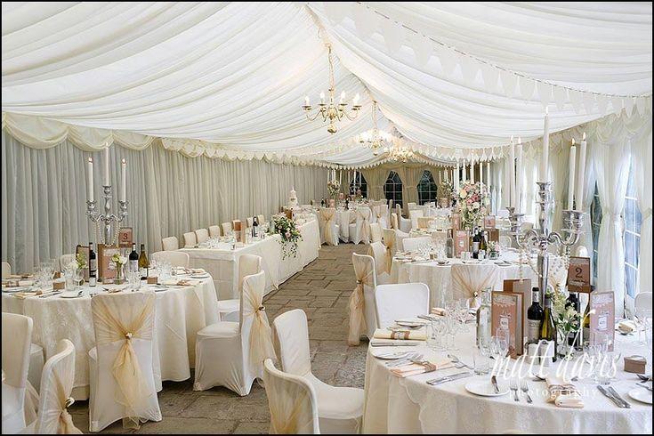 The marquee at Birtsmorton Court wedding venue