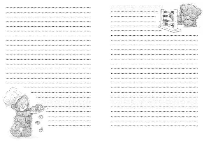 Мои Странички для блокнота с мишками тедди. Набор №2. Обсуждение на LiveInternet - Российский Сервис Онлайн-Дневников