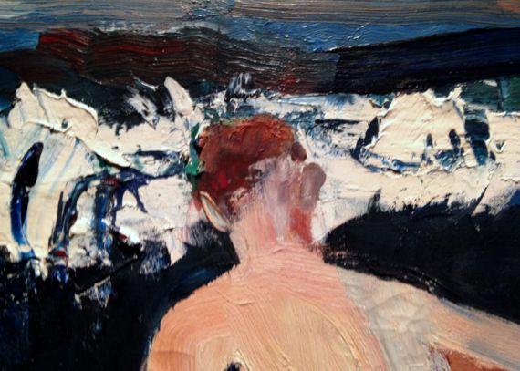 David Park, Surf Bathers (1956) detail
