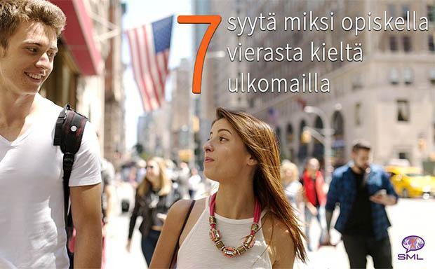 Lue uudesta blogistamme 7 syytä miksi opiskella vierasta kieltä ulkomailla.