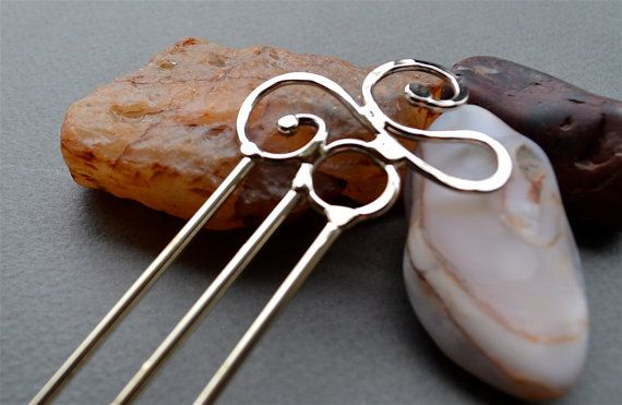 Metal Hair Stick by skydesign on Etsy, $18.00
