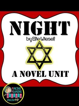 Night - Novel Unit, Elie Wiesel, Secondary, Close Read
