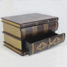 Дома Деревянные Антикварные Книги Декоративная Коробка Для Хранения(China (Mainland))