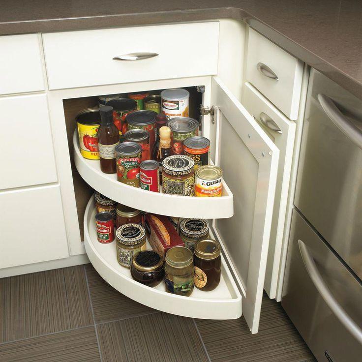 Base Swing-Out Shelves | Corner kitchen cabinet, Kitchen ...