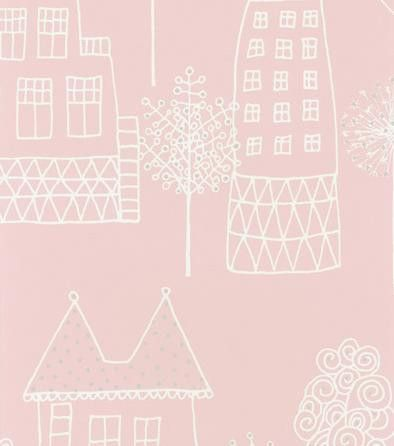 Sandberg - Kaspar Pink Kids Wallpaper