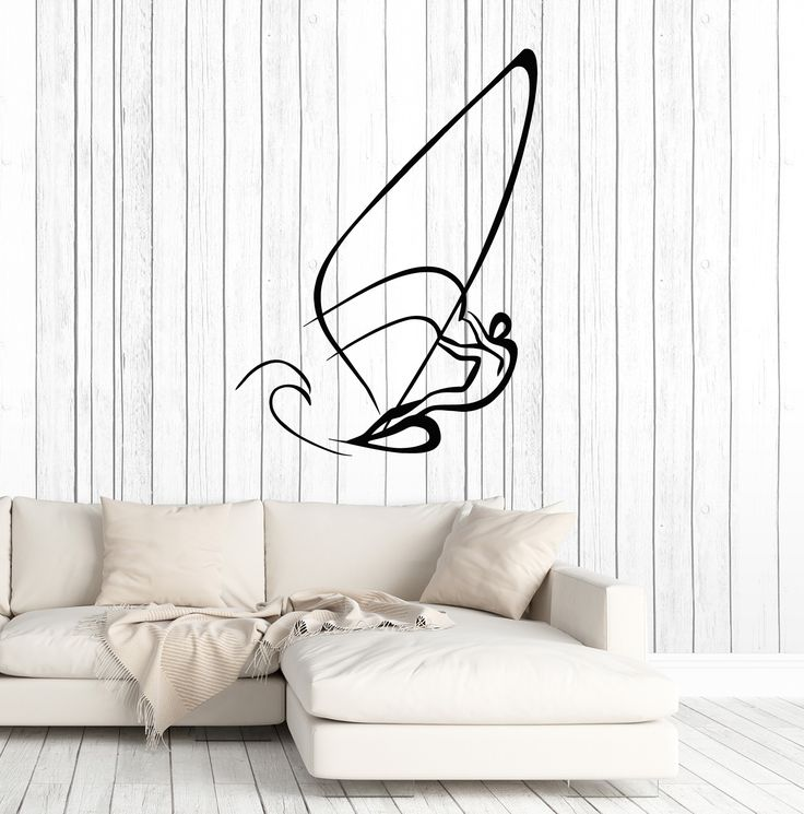 Large Wall Stickers Vinyl Decal Sail Yacht Sport Water Extreme Sport Freedom (z2024)