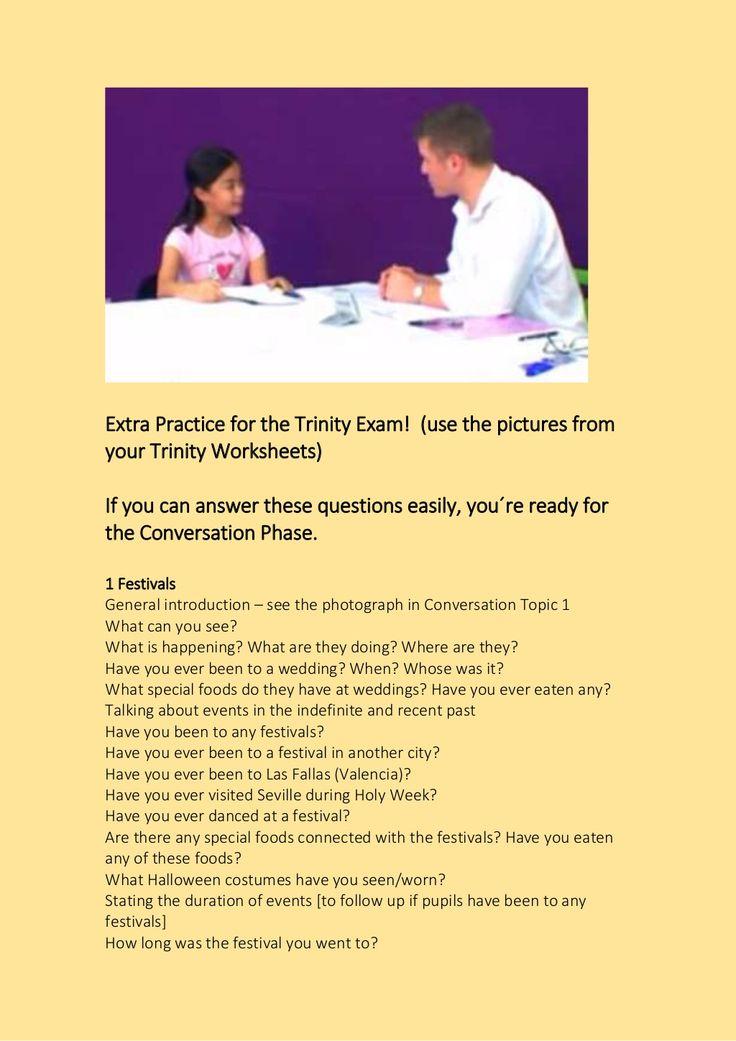 Trinity Conversation Questions by profecolaborador via slideshare