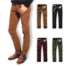 2015 nouveau 100% coton hommes pantalons Casual pantalons en velours côtelé pantalons près conseil maigre grande taille 28 - 34(China (Mainland))