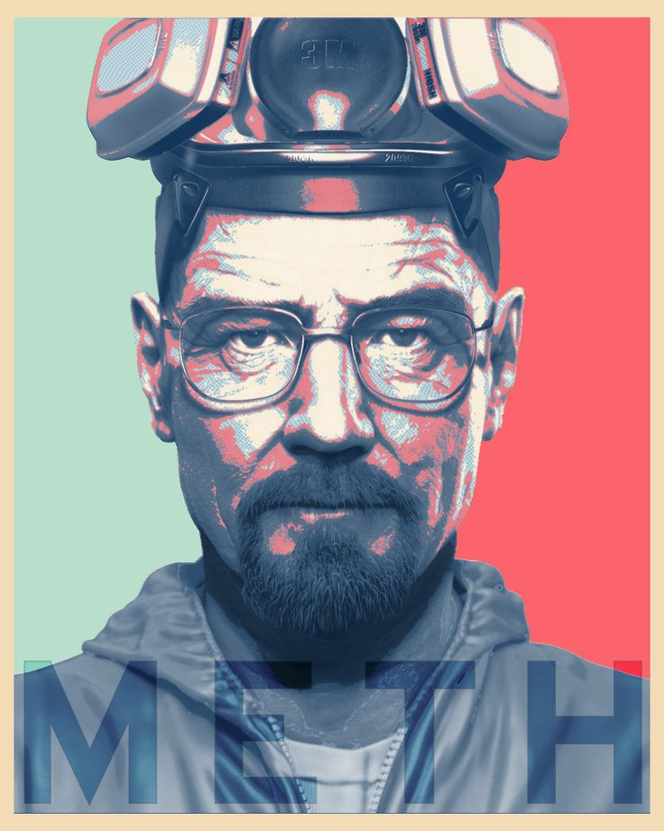 This Heisenberg portrait, Mr. White (aka Heisenberg), from the acclaimed AMC series Breaking Bad, demonstrates how the ascension of television has profoundly affected viewers and their love for a television series. - Michael Serrano