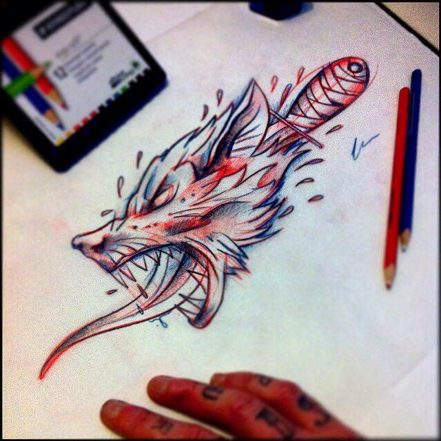 Wolf dagger sketch