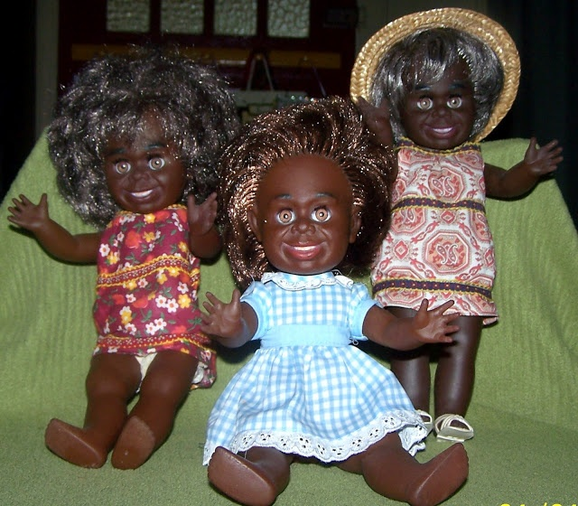 Aboriginal dolls by Metti.      Here are some Aboriginal dolls other than Bindi that were made by Metti.
