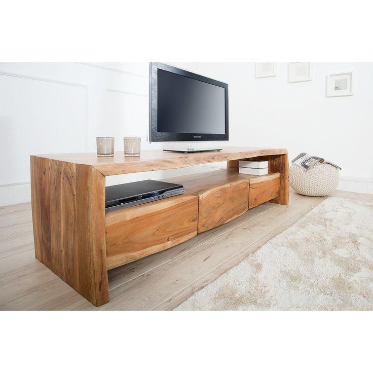 TV-skrinka drevo agát/acacia  Rozmery: 160x45cm  Celková výška: 45cm  Rozmer šuflíku: 45cm x 10cm x 30cm  Rozmer otvoru: 150cm x 20cm x 40cm  Farba dreva: Prírodná, ako na fote  Material: Masívne drevo Acacia/Agát  V