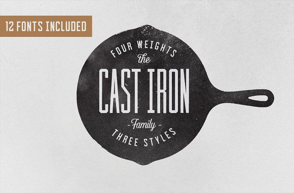 Cast Iron Family by Hustle Supply Co. on @creativemarket
