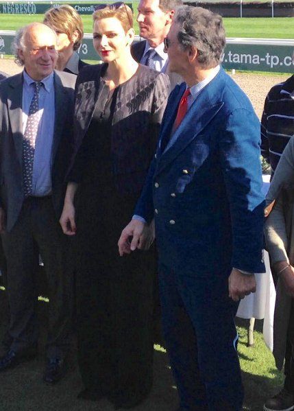 Princess Charlene attends the Charity Mile Race event