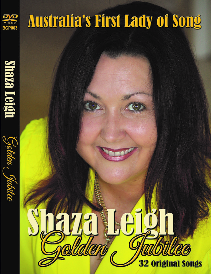 The Golden Jubilee DVD is a celebration of Shaza Leigh's 50th Birthday. It follows Shaza's career from the very beginning to the present day. Released in 2017 there are 32 tracks of her original songs and hundreds of photos and clips. Available through LBS Music Distribution - BGP003 #ShazaLeigh