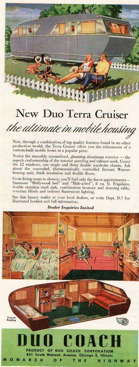 Mobile Home Living: Vintage Mobile Home Ads - Week 1