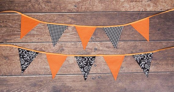 Halloween fabric banners, bunting, garland, atumn,